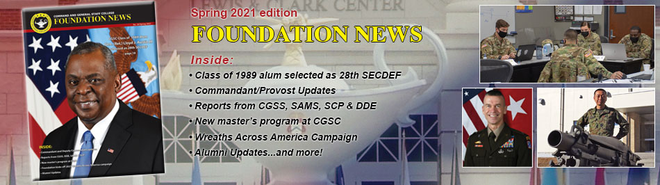 Composite image for the Spring 2021 edition of the Foundation News