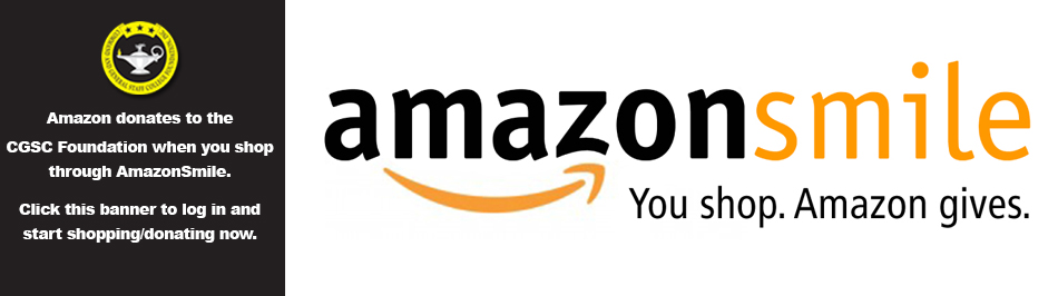 banner image/link to CGSC Foundation's amazonsmile. Use the same login information for amazon you always do
