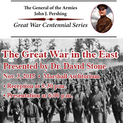 Public invited to Great War in the East lecture Nov. 3