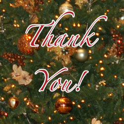 A holiday thank you