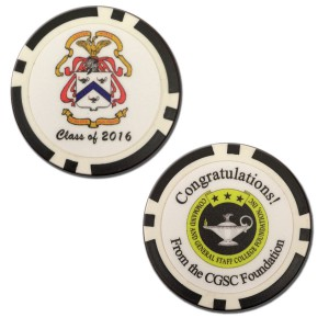 Members of the CGSOC Class of 2016 will each receive a congratulatory chip from the Foundation.