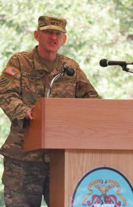 Lt. Gen. Edward Cardon provides the keynote remarks during the CGSOC Class of 2016 graduation ceremony.