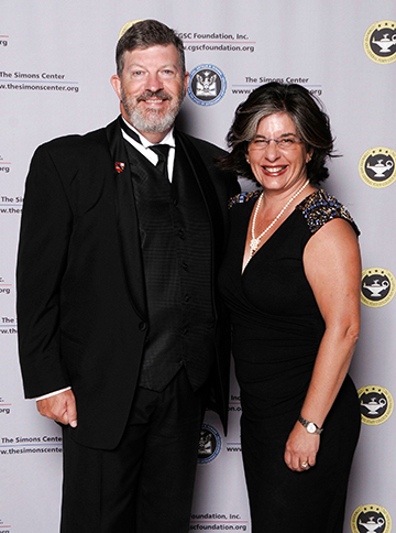 Lt. Col. (Ret.) Jim and Angela Fain on the red carpet at the 2015 Celebration of International Friendship at the Kauffman Center for the Performing Arts in downtown Kansas City.