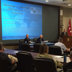 Simons Center hosts first InterAgency Brown-Bag Lecture