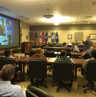 Simons Center hosts third InterAgency Brown-Bag Lecture