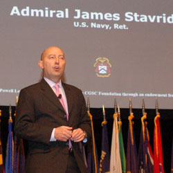 Admiral speaks to CGSC Class of 2017