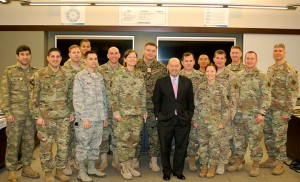 Adm. Stavridis takes time for a group photo with the small group he met with after his presentation in Eisenhower Hall.