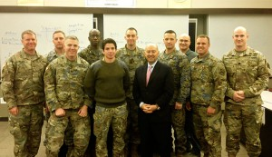 After his presentation in Eisenhower Hall, Adm. Stavridis also met with students in Dr. Dean Nowowiejski's Art of War Scholars program.