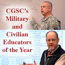 CGSC Educators of the Year are Persons of the Month – January 2017