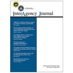 InterAgency Journal 8-1 (Winter 2017)