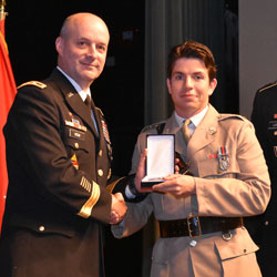 CGSC Class of 2017 international students receive badges, awards