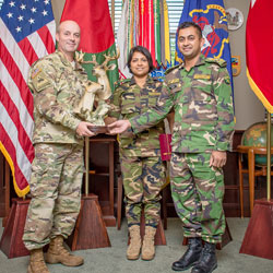 International officers present gifts to CGSC
