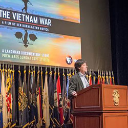 Vietnam War documentarian Ken Burns presents at CGSC