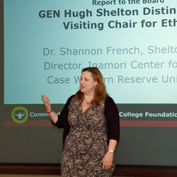 Chair of Ethics kicks off academic year with CGSC visit