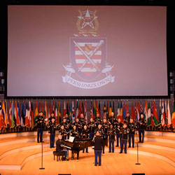 U.S. Army Chorus joins tribute to CGSC international military students