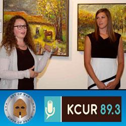 Gallery curators discuss Art of War Initiative on local public radio