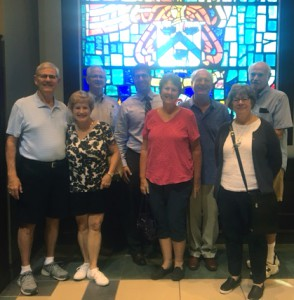 Gladstone Rotary Club members take a group photo in the Lewis and Clark Center during their tour Sept. 14.