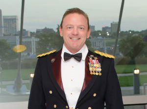 "Lt. Col. Gerald ""Wayne"" Surrett, M.D., as he arrived at the Celebration of International Friendship Sept. 29 at the Kauffman Center for Performing Arts in Kansas City, Mo."