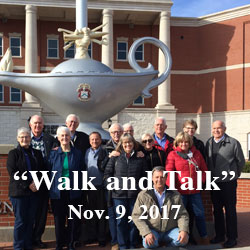 Foundation trustee brings church group for 'Walk and Talk'