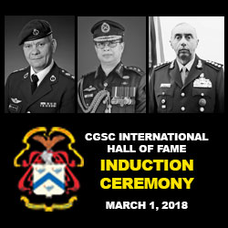 CGSC International Hall of Fame – March 1