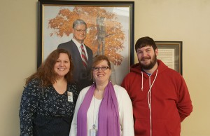 "CARL staff members Kelsey Busch, Susan Plotner and Dan Barbuto – March 2018 ""Persons of the Month."""