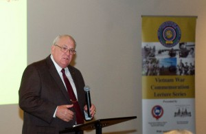 Dr. Willbanks discussed the Tet Offensive of 1968 in the tenth Vietnam War Commemoration Lecture conducted at the Stove Loft Factory in downtown Leavenworth, Kansas, Jan. 31.