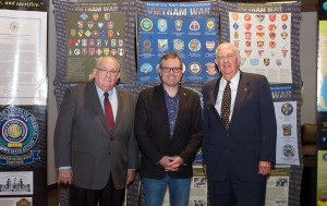 From left, Dr. Jim Willbanks from CGSC's Department of Military History, Dr. Bill Allison, and CGSC Foundation Trustee Col. (Ret.) Bill Eckhardt. Willbanks was one of the driving forces for the Vietnam lecture series when he was the director of the history department. He has delivered many of the lectures in the series.