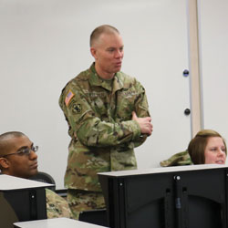 100th Training Division commander meets with TASS CGSS students