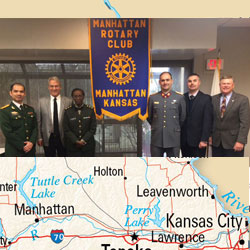 CGSOC students present at Manhattan Rotary Club program