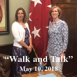 Foundation volunteers get personal Walk and Talk tour