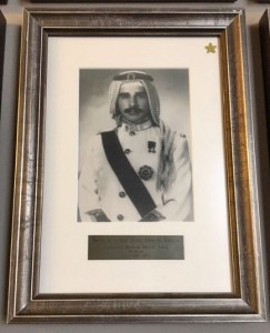 King Khalifa's portrait in the International Hall of Fame gallery in the Lewis and Clark Cent.