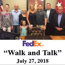 FedEx execs and family tour CGSC, Fort Leavenworth