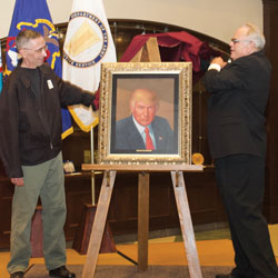 Foundation presents presidential portrait to Fort Leavenworth