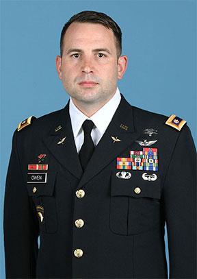 Maj. Travis H. Owen , CGSOC Class of 2019 president.