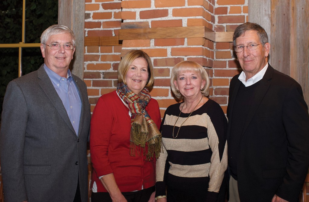 From left, Doug and Val Tystad, and Ann and Chuck Soby, take a photo together at the Foundation dinner Nov. 15 in honor of Doug and Ann's retirement from the Foundation.