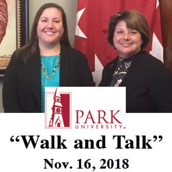 Park University reps take 'Walk and Talk' tour