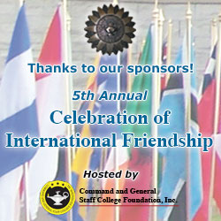 Thank you to the sponsors and attendees of the 5th Annual Celebration of International Friendship