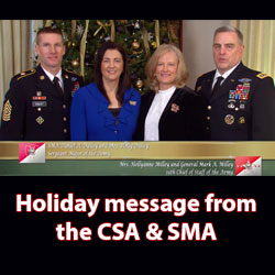 Happy Holidays from the Army's leaders