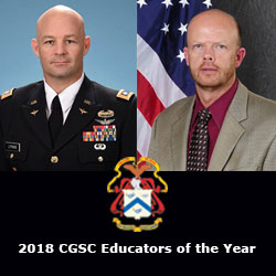 2018 CGSC educators of the year announced