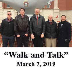 Former trustee brings associates to post for Walk and Talk tour