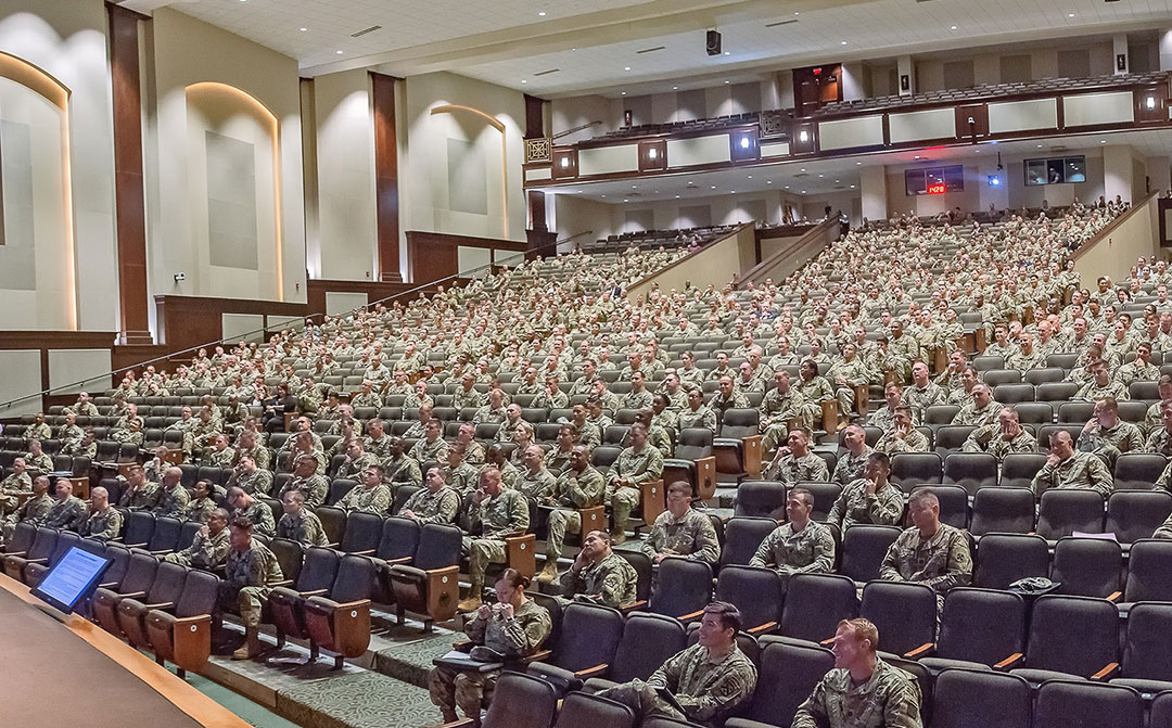 A new academic year is underway at CGSC. – Students of the Command and General Staff Officers Course (CGSOC) Class of 2020 began attending orientation sessions for the upcoming school year at the Lewis and Clark Center, Fort Leavenworth, Kan. on July 11, 2019. (photo courtesy ArmyU Public Affairs)