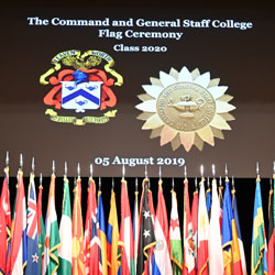 International Flag Ceremony opens CGSC Academic Year 2020