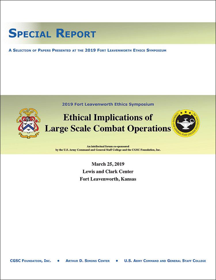 2019 Fort Leavenworth Ethics Symposium Special Report - cover image
