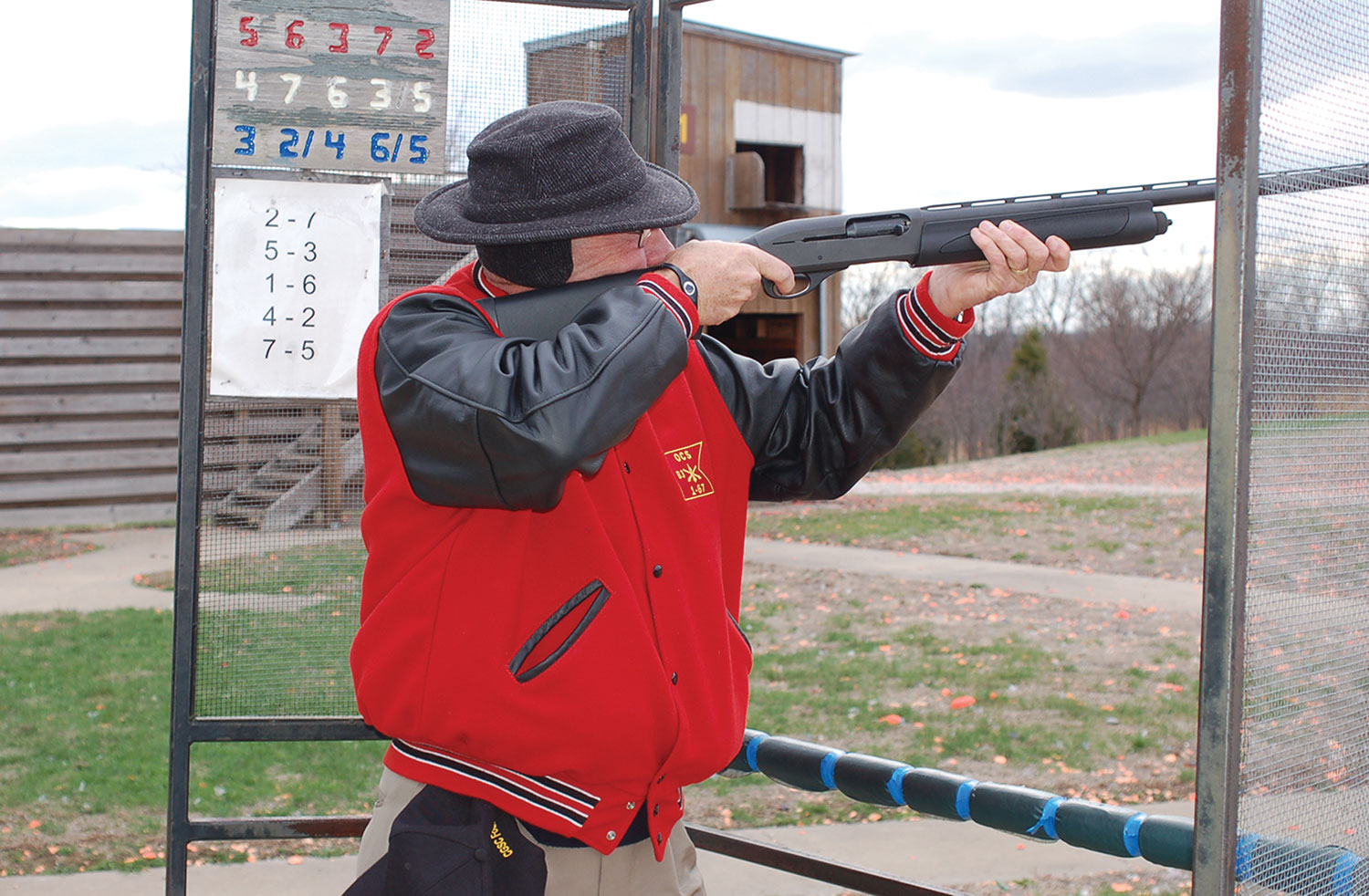 """Hyrum Smith participates in a """"fun shoot"""" at the Fort Leavenworth range hosted by the Foundation leadership prior to a board meeting on March 23, 2011. (photo by Mark H. Wiggins)"""