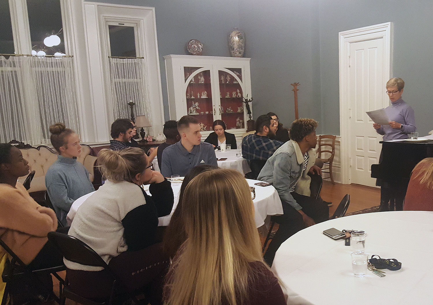 Ambassador Canavan speaks with students at the University of St. Mary on Dec. 3, 2019.