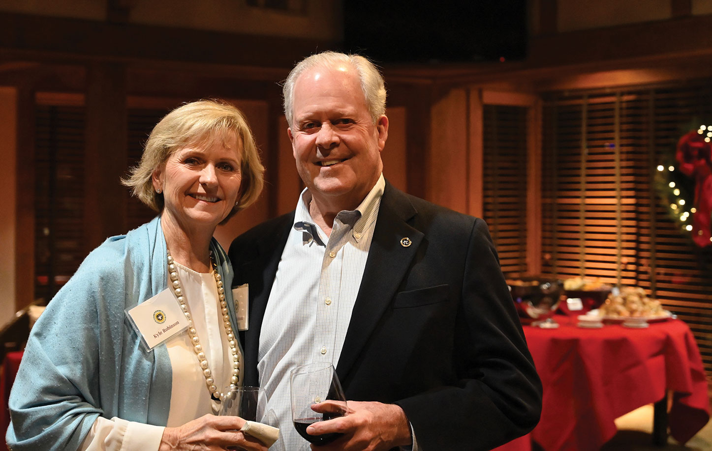 Foundation Vice Chair John Robinson and wife Kyle. John was the lead sponsor for the reception.