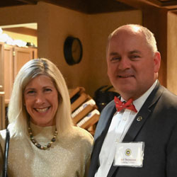 photo of Founding Trustee Paul Thompson and his wife and the major donor reception Dec. 17, 2019.
