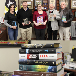 Foundation trustee spearheads book donation to post library