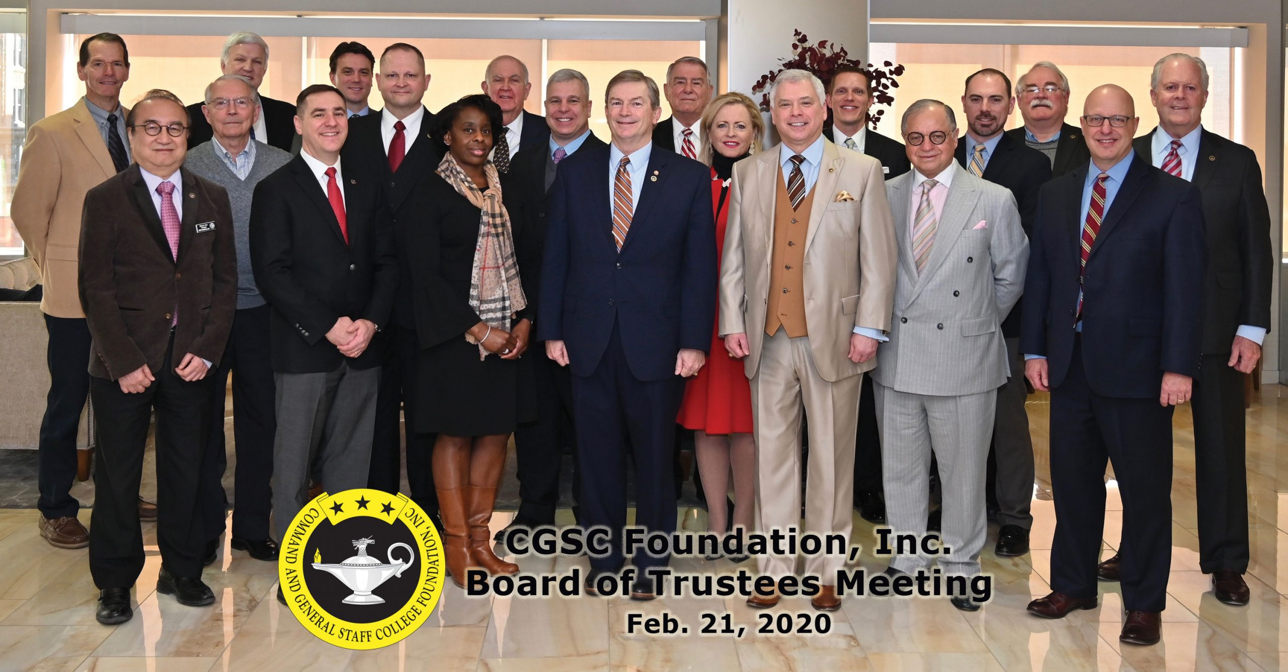 CGSCF Board of Trustees group photo taken Feb. 21, 2020.