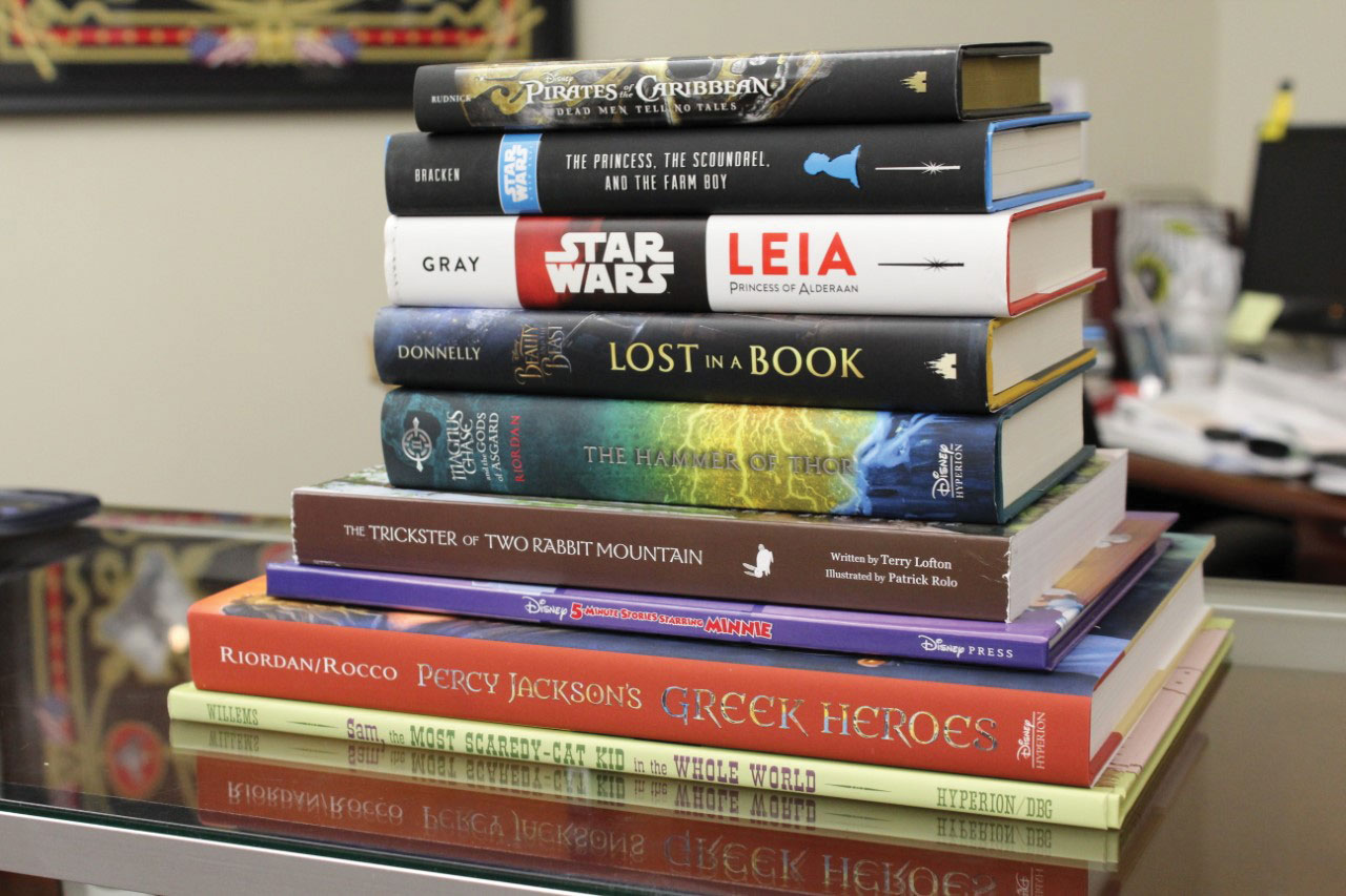 photo of some of the books donated to the Ike Skelton Combined Arms Research Library on Feb. 14, 2020